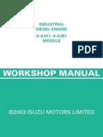Isuzu Diesel Engine 4JA1 and 4JB1