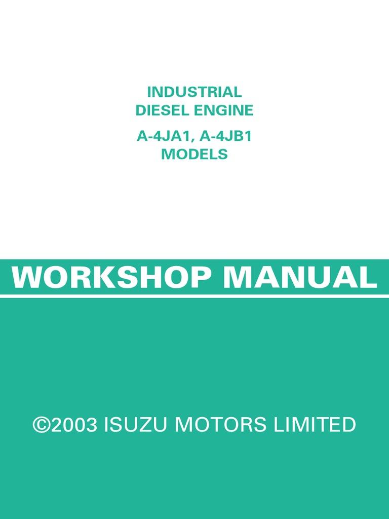 Isuzu 4ja1 Wiring Diagram Schematic Diagrams Diesel Engines Engine And 4jb1 Cylinder Piston 88 Pickup