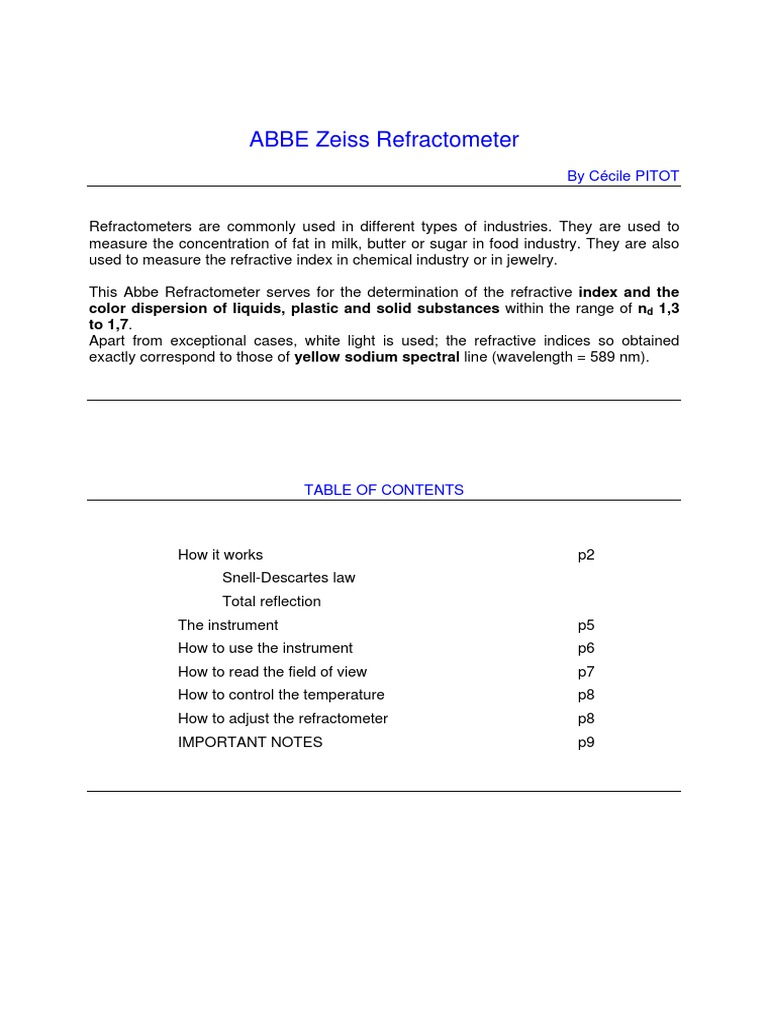 Abbe Refractometer Refractive Index Prism