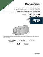 Manual Videocamara Panasonic Hcvhd 201