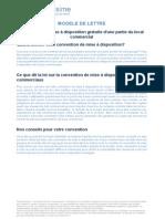 Convention de Mise a Disposition Gratuite d Une Partie Du Local Commercial 816