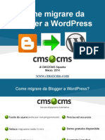 Come migrare da Blogger a WordPress