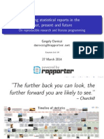 Creating statistical reports in the past, present and future