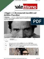 «Oggi» e i documenti inediti sul delitto Pasolini