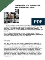 MY BLOG Dr OLGA LAZIN; A short Psychoanalysis of Vladimir Putin & His Style of Negotiation