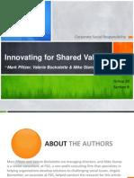 Innovating for Shared Value