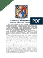 Consagración a Jesucristo, la Sabiduría Encarnada  a través de la Santísima Virgen María. San Luis María Grignon de Montfort