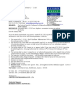 Letter of Intent for Ball Valve