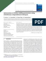 15.P.sathIYA 2009 Optimization of Friction Welding Parameters Using