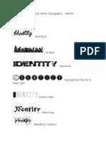 brand name typography