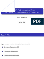 Lecture 17 - Trade and Growth (Theory)