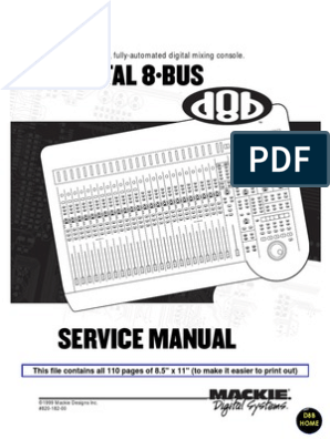Mackie D8B Service Notes Small | Bios | Booting
