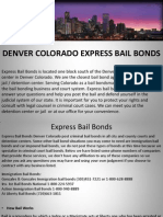 Express Bail Bonds Denver Colorado