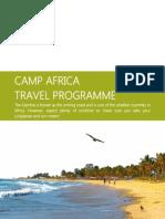 Camp Africa Study Tour Programmme