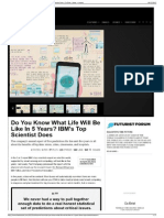 4 Do You Know What Life Will Be Like in 5 Years IBM's Top