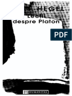 Hegel - Lectii Despre Platon