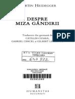 Martin Heidegger - Despre miza gandirii.pdf