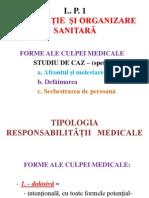 1.b Legislație și organizare sanitară L. P . 1