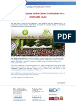 BDF Will Participate in the Intermon Oxfam Trailwalker for a Charitable Cause