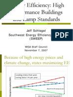 Energy Efficiency-High Performance Buildings