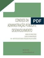 Conexos da Administração Pública e Desenvolvimento