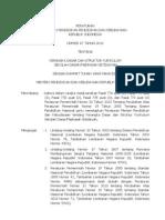Permen No. 67 Thn. 2013 Tentang Kerangka Dasar Dan Struktur Kurikulum SD-MI