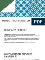 Member Profile System