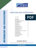 Argus Coal Daily Price - 2012