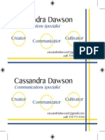 cassandra d 2up business card