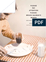 Bruce Nauman, Collected Writings