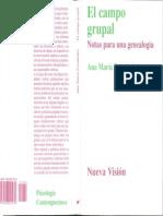 Book. Campo grupal-Ana María fernández
