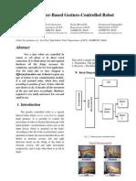 Accelerometer based gesture robot