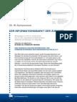 Presseinformation IK-Symposium 2014 - Kernthesen der Speaker - Dueck - Lewandowski - Klems