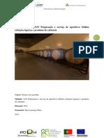 Modulo 3333 Prepaqracao e Servico de Aperitivos Solidos Refeicoes Ligeiras e Produtos de Cafetaria