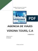 Anteproyecto Verona Tours. c.A