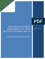 Cognos Disclosure Management 10.2 - Best Practice Document Jan 08 2013