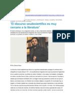 Roque Larraquy Habla Sobre Informe Sobre Ectoplasma Animal