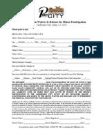 CBC 2014 WaiverandRelease Minor Form