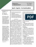 03 2014 Analgesic Agents- Acetaminophen