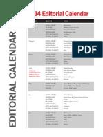 PRWeek 2014 Editorial Calendar