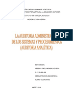 AUDITORIA ANALITICA
