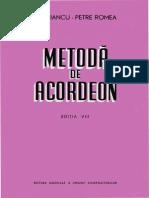 96533945 Metoda de Acordeon Misu Iancu Petre Romea Editia VIII Bucuresti 1971