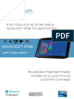 Motion R12 Rugged Tablet PC Datasheet