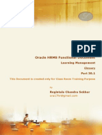 Oracle HRMS Learning Management R12