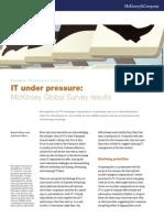 IT Under Pressure McKinsey Global Survey Results
