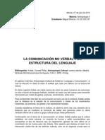 LA COMUNICACIÓN NO VERBAL Y LA ESTRUCTURA DEL LENGUAJE