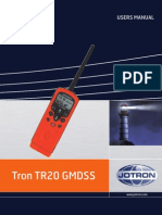 Tron bærbar VHF Users manual
