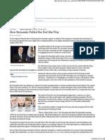 How Bernanke Pulled the Fed His Way - WSJ