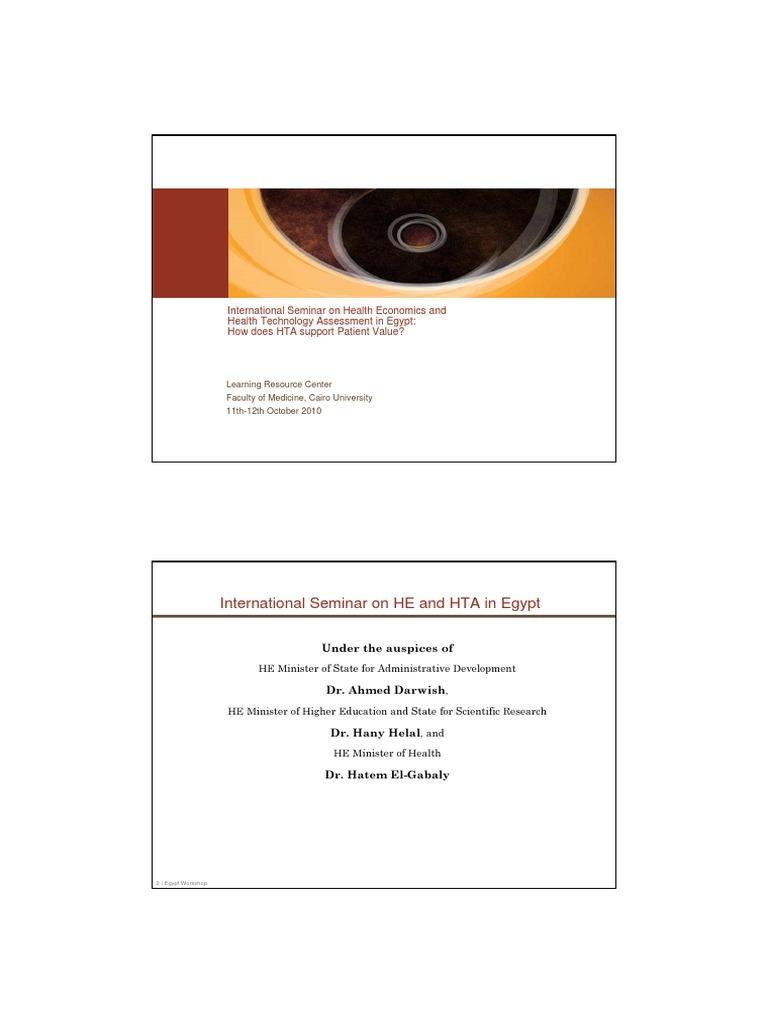 EGYPT Workshop on HE & HTA Oct 11 -12 AGENDA_ppt [Írásvédett