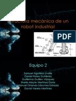 Estructura mecánica de un robot industrial